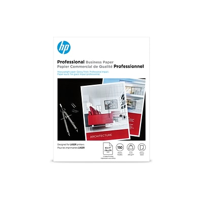 HP Professional Business Glossy Brochure Paper, 8.5 x 11 (US letter), 150 Sheets/Pack (4WN10A)