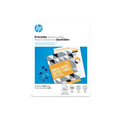 HP Everyday Business Glossy Photo Paper, 8.5 x 11 (US letter), 150 Sheets/Pack (4WN08A)