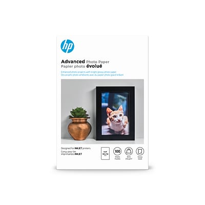 HP Advanced Glossy Photo Paper, 4 x 6, 100/Pack (Q6638A)