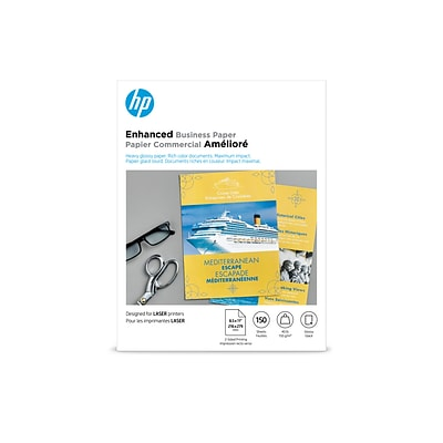 HP Enhanced Business Laser Glossy Paper, 8.5 x 11, 150 Sheet Per Pack (Q6611A)