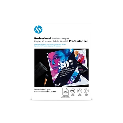 HP Professional Business Inkjet Glossy Paper, 8.5 x 11, 150/Pack (Q1987A)