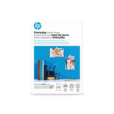 HP Everyday Glossy Photo Paper, 4 x 6, 100/Pack (CR759A)