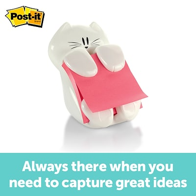 Post-it® Cat Pop-Up Dispenser for 3 x 3 Notes, White (CAT-330)