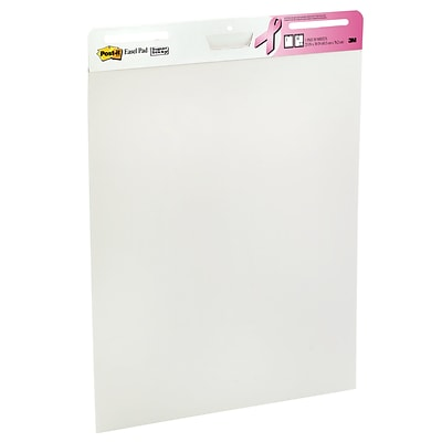 Post-it® Super Sticky Easel Pad, 25 x 30, White, 30 Sheets/Pad, 2 Pads, $2.00 per pad donation to City of Hope (559-2PK-BCA)