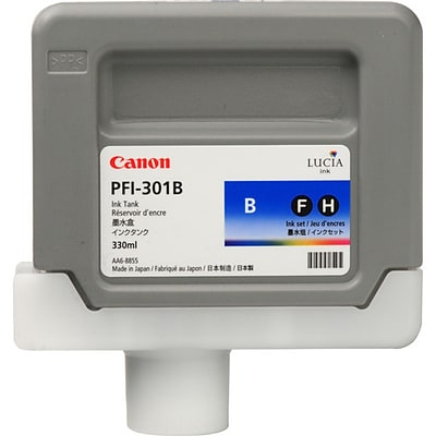Canon PFI-301 Blue Ink Tank, Standard Yield