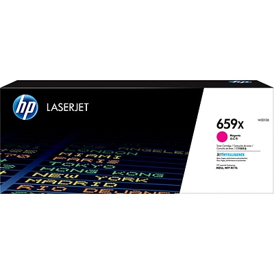HP LaserJet 659X Magenta Toner Cartridge, High Yield (W2013X)