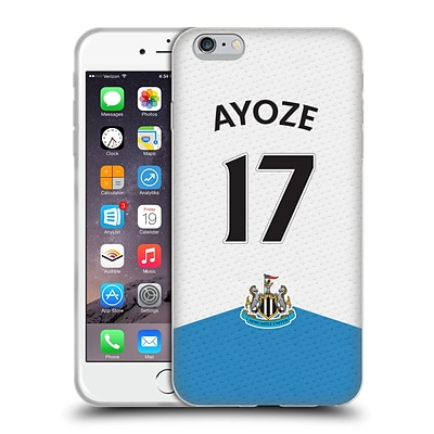 OFFICIAL NEWCASTLE UNITED FC NUFC 2015/16 PLAYERS HOME KIT Ayoze Perez Soft Gel Case for Apple iPhone 6 Plus / 6s Plus