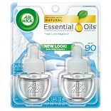 Air Wick Essential Oil Refills, Snuggle Fresh Linen, .67 oz.. 2/Pack (6233882291)