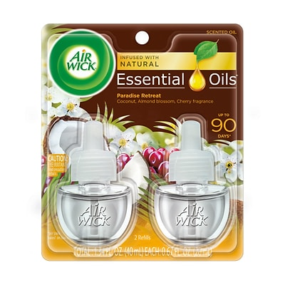 Air Wick Life Scents Scented Oils, Paradise Retreat Scent, 2/Pack (6233891110)