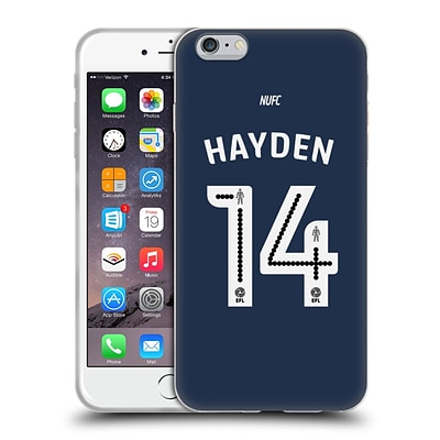 OFFICIAL NEWCASTLE UNITED FC NUFC 2016/17 PLAYERS AWAY KIT 2 Hayden Soft Gel Case for Apple iPhone 6 Plus / 6s Plus