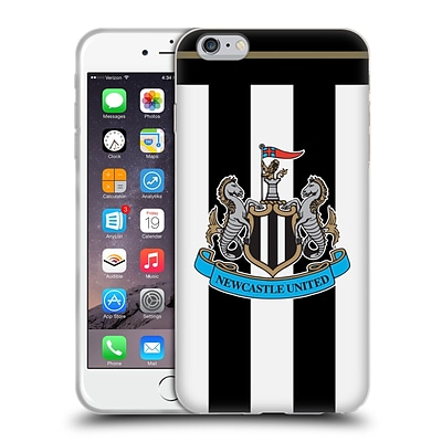 Official Newcastle United Fc Nufc 2016/17 Kit Home Soft Gel Case For Apple Iphone 6 Plus / 6S Plus
