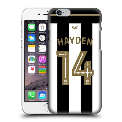 Official Newcastle United Fc Nufc 2016/17 Players Home Kit 2 Hayden Hard Back Case For Apple Iphone 6 / 6S