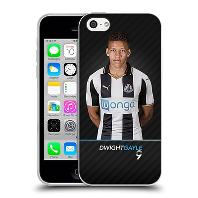 OFFICIAL NEWCASTLE UNITED FC NUFC 2016/17 FIRST TEAM 2 Gayle Soft Gel Case for Apple iPhone 5c