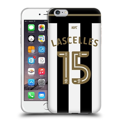 OFFICIAL NEWCASTLE UNITED FC NUFC 2016/17 PLAYERS AWAY KIT 1 Lascelles Soft Gel Case for Apple iPhone 6 Plus / 6s Plus