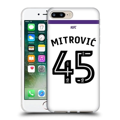 OFFICIAL NEWCASTLE UNITED FC NUFC 2016/17 PLAYERS THIRD KIT 1 Mitrovic Soft Gel Case for Apple iPhone 7 Plus