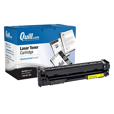 Quill Brand® HP202A Remanufactured Yellow Toner Cartridge, Standard Yield (CF502A) (Lifetime Warranty)