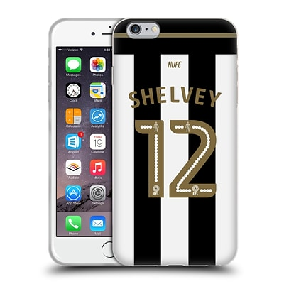 OFFICIAL NEWCASTLE UNITED FC NUFC 2016/17 PLAYERS HOME KIT 1 Shelvey Soft Gel Case for Apple iPhone 6 Plus / 6s Plus