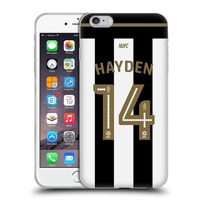 OFFICIAL NEWCASTLE UNITED FC NUFC 2016/17 PLAYERS HOME KIT 2 Hayden Soft Gel Case for Apple iPhone 6 Plus / 6s Plus