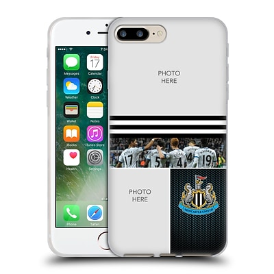 CUSTOM CUSTOMISED PERSONALISED NEWCASTLE UNITED FC NUFC 2016/17 PERSONALISED Stripes Soft Gel Case for Apple iPhone 7 Plus