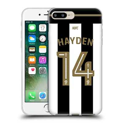 OFFICIAL NEWCASTLE UNITED FC NUFC 2016/17 PLAYERS HOME KIT 2 Hayden Soft Gel Case for Apple iPhone 7 Plus