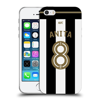 OFFICIAL NEWCASTLE UNITED FC NUFC 2016/17 PLAYERS AWAY KIT 1 Anita Soft Gel Case for Apple iPhone 5 / 5s / SE