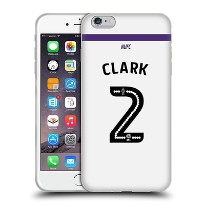 OFFICIAL NEWCASTLE UNITED FC NUFC 2016/17 PLAYERS THIRD KIT 2 Clark Soft Gel Case for Apple iPhone 6 Plus / 6s Plus