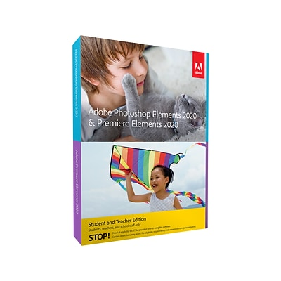 Adobe Photoshop Elements 2020 & Premiere Elements 2020 Student & Teacher Edition for 2 Users, Mac, Download (65300320)