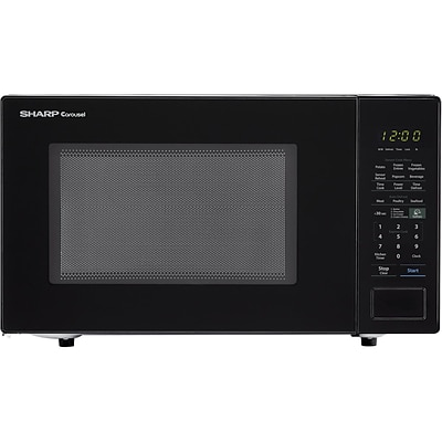 Sharp Carousel 1.4 Cu. Ft. 1000W Countertop Microwave Oven in Black