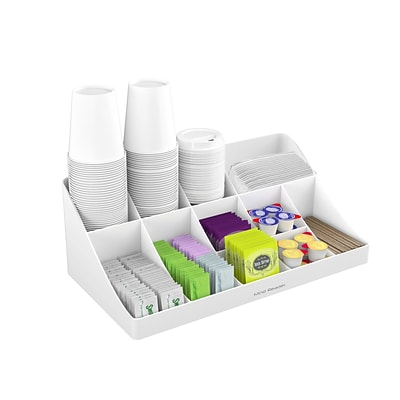 Breakroom Home Office Black Mind Reader SNACOMORG-BLK Coffee Condiment and Snack Organizer 2 Pack