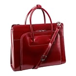 McKlein W Series Laptop Case, Red Leather (94336)
