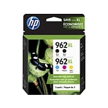 HP 962XL Black/Cyan/Magenta/Yellow Ink Cartridges, High Yield, 5/Pack