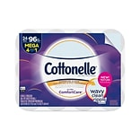 Cottonelle Ultra ComfortCare Mega 2-Ply Standard Toilet Paper, White, 284 Sheets/Roll, 24 Rolls/Case