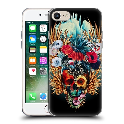 OFFICIAL RIZA PEKER SKULLS 4 Vivid Soft Gel Case for Apple iPhone 7