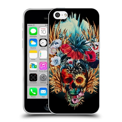 OFFICIAL RIZA PEKER SKULLS 4 Vivid Soft Gel Case for Apple iPhone 5c