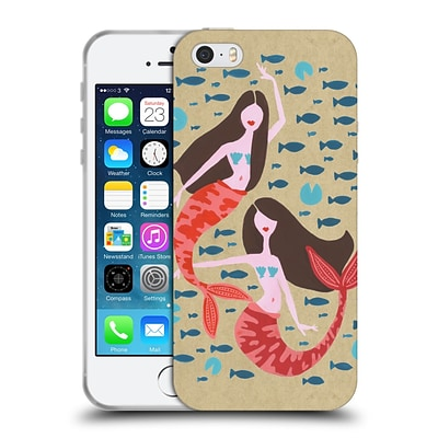 OFFICIAL CAT COQUILLETTE WATERCOLOUR ILLUSTRATIONS Mermaids Craft Soft Gel Case for Apple iPhone 5 / 5s / SE