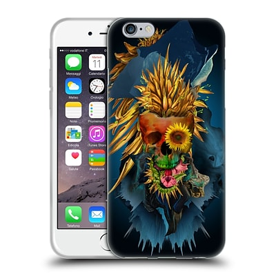 OFFICIAL RIZA PEKER SKULLS 4 Vivid III Soft Gel Case for Apple iPhone 6 / 6s