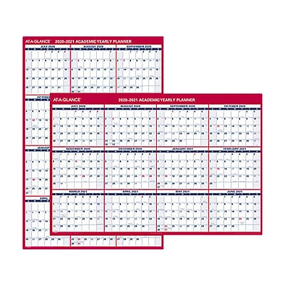 2020 AT-A-GLANCE 32 x 48 Wall Calendar, Red (PM36AP2821)