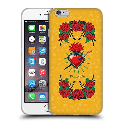 OFFICIAL FRIDA KAHLO ICONS Heart and Roses Soft Gel Case for Apple iPhone 6 Plus / 6s Plus
