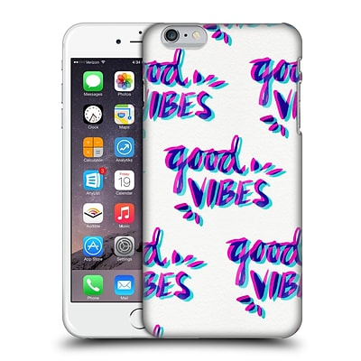 OFFICIAL CAT COQUILLETTE QUOTES TYPOGRAPHY 4 Good Vibes Magenta Cyan Hard Back Case for Apple iPhone 6 Plus / 6s Plus