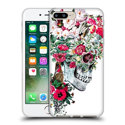 OFFICIAL RIZA PEKER SKULLS Momento Mori I Soft Gel Case for Apple iPhone 7 Plus