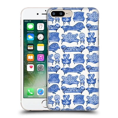 OFFICIAL CAT COQUILLETTE PATTERNS 2 Navy Victorian Lounge Hard Back Case for Apple iPhone 7 Plus