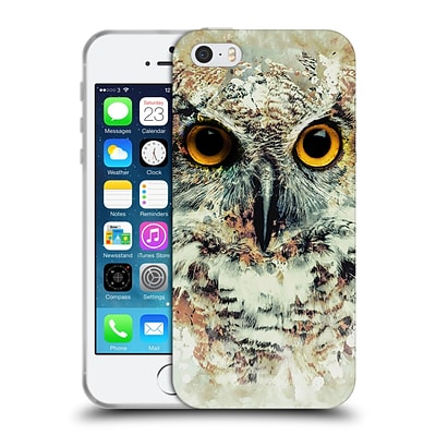 OFFICIAL RIZA PEKER ANIMALS Owl II Soft Gel Case for Apple iPhone 5 / 5s / SE