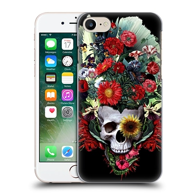 OFFICIAL RIZA PEKER SKULLS 4 Flowers Hard Back Case for Apple iPhone 7