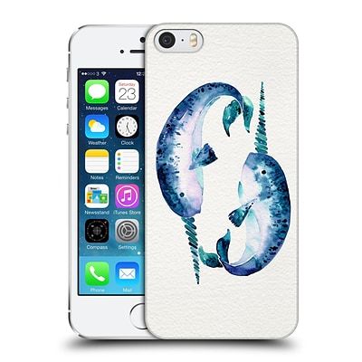 OFFICIAL CAT COQUILLETTE SEA Blue Narwhals Hard Back Case for Apple iPhone 5 / 5s / SE