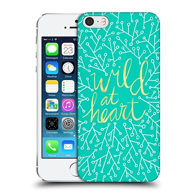 OFFICIAL CAT COQUILLETTE QUOTES TYPOGRAPHY 3 Wild At Heart Turquoise Hard Back Case for Apple iPhone 5 / 5s / SE