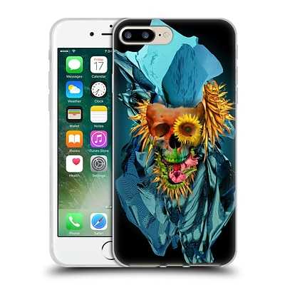 OFFICIAL RIZA PEKER SKULLS 4 Vivid IV Soft Gel Case for Apple iPhone 7 Plus