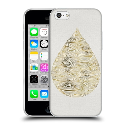 OFFICIAL CAT COQUILLETTE WATERCOLOUR ILLUSTRATIONS 2 Gold Water Drop Soft Gel Case for Apple iPhone 5c