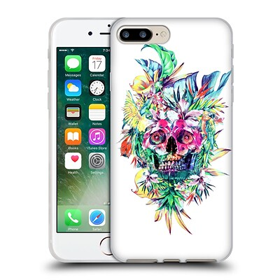 OFFICIAL RIZA PEKER SKULLS 2 Island Soft Gel Case for Apple iPhone 7 Plus