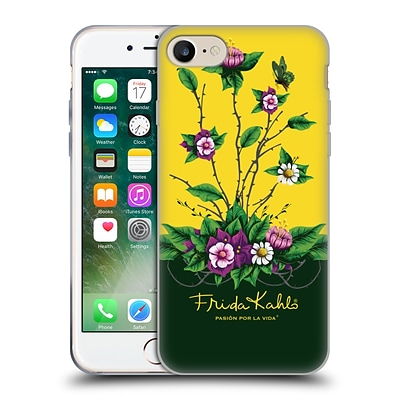 OFFICIAL FRIDA KAHLO PURPLE FLORALS Shrub Soft Gel Case for Apple iPhone 7
