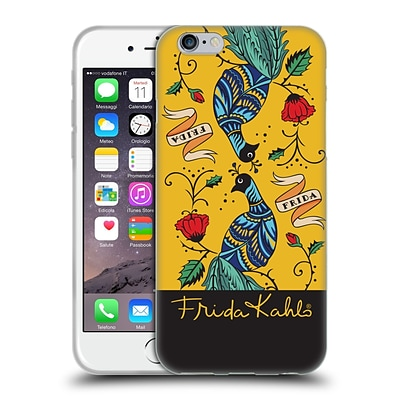 OFFICIAL FRIDA KAHLO PEACOCK Mirror Soft Gel Case for Apple iPhone 6 / 6s